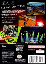 Box back cover for Big Air FreeStyle on the Nintendo GameCube.