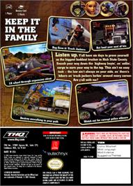 Box back cover for Big Mutha Truckers on the Nintendo GameCube.