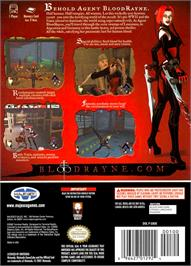 Box back cover for BloodRayne on the Nintendo GameCube.