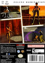 Box back cover for Catwoman on the Nintendo GameCube.