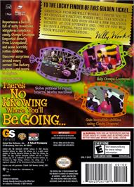 Box back cover for Charlie and the Chocolate Factory on the Nintendo GameCube.