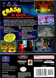 Box back cover for Crash Bandicoot: The Wrath of Cortex on the Nintendo GameCube.