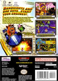 Box back cover for Crash Nitro Kart on the Nintendo GameCube.