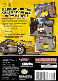 Box back cover for Crazy Taxi on the Nintendo GameCube.