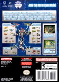 Box back cover for Custom Robo on the Nintendo GameCube.