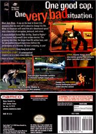 Box back cover for Dead to Rights on the Nintendo GameCube.