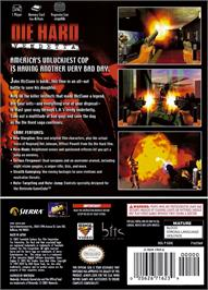 Box back cover for Die Hard: Vendetta on the Nintendo GameCube.