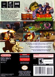 Box back cover for Donkey Kong: Jungle Beat on the Nintendo GameCube.