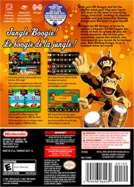 Box back cover for Donkey Konga on the Nintendo GameCube.
