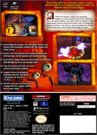 Box back cover for Dragon's Lair 3D: Return to the Lair on the Nintendo GameCube.