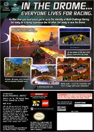Box back cover for Drome Racers on the Nintendo GameCube.