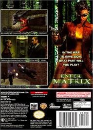 Box back cover for Enter the Matrix on the Nintendo GameCube.