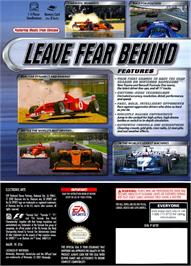 Box back cover for F1 2002 on the Nintendo GameCube.