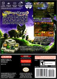 Box back cover for Final Fantasy: Crystal Chronicles on the Nintendo GameCube.