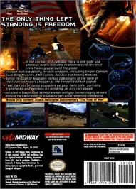 Box back cover for Fireblade on the Nintendo GameCube.