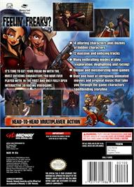 Box back cover for Freaky Flyers on the Nintendo GameCube.