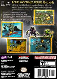 Box back cover for Goblin Commander: Unleash the Horde on the Nintendo GameCube.