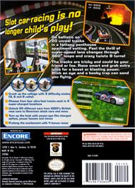 Box back cover for GrooveRider:  Slot Car Thunder on the Nintendo GameCube.