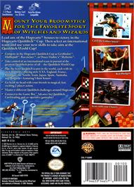Box back cover for Harry Potter: Quidditch World Cup on the Nintendo GameCube.