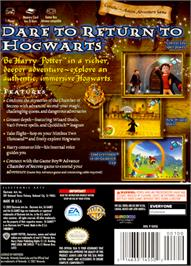 Box back cover for Harry Potter and the Chamber of Secrets on the Nintendo GameCube.