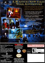 Box back cover for Harry Potter and the Sorcerer's Stone on the Nintendo GameCube.