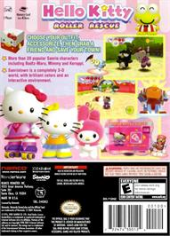 Box back cover for Hello Kitty: Roller Rescue on the Nintendo GameCube.