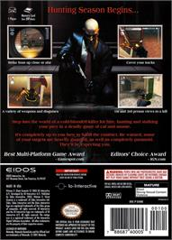 Box back cover for Hitman 2: Silent Assassin on the Nintendo GameCube.