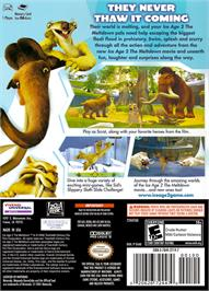 Box back cover for Ice Age 2: The Meltdown on the Nintendo GameCube.