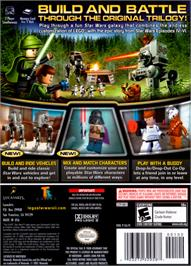 Box back cover for LEGO Star Wars 2: The Original Trilogy on the Nintendo GameCube.