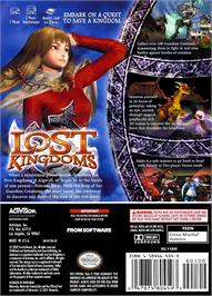 Box back cover for Lost Kingdoms on the Nintendo GameCube.