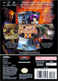 Box back cover for Lost Kingdoms 2 on the Nintendo GameCube.