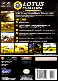 Box back cover for Lotus Challenge on the Nintendo GameCube.