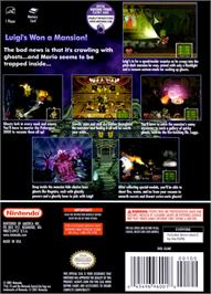 Box back cover for Luigi's Mansion on the Nintendo GameCube.