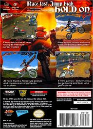 Box back cover for MX Superfly Featuring Ricky Carmichael on the Nintendo GameCube.
