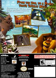 Box back cover for Madagascar on the Nintendo GameCube.