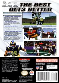 Box back cover for Madden NFL 2003 on the Nintendo GameCube.