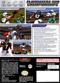 Box back cover for Madden NFL 2004 on the Nintendo GameCube.