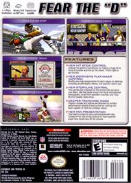Box back cover for Madden NFL 2005 on the Nintendo GameCube.