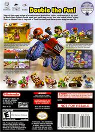 Box back cover for Mario Kart: Double Dash on the Nintendo GameCube.