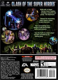 Box back cover for Marvel Nemesis: Rise of the Imperfects on the Nintendo GameCube.