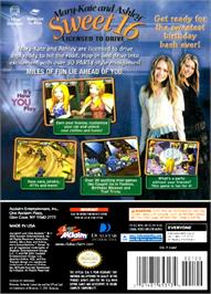 Box back cover for Mary-Kate and Ashley: Sweet 16: Licensed to Drive on the Nintendo GameCube.