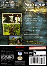 Box back cover for Medal of Honor: Rising Sun on the Nintendo GameCube.