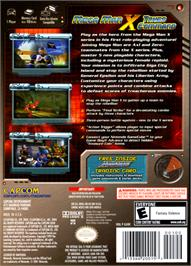 Box back cover for Mega Man X: Command Mission on the Nintendo GameCube.