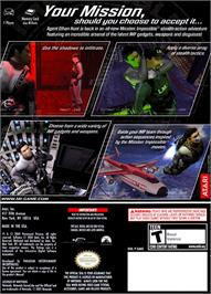 Box back cover for Mission Impossible: Operation Surma on the Nintendo GameCube.