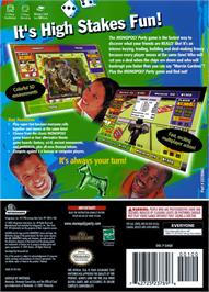 Box back cover for Monopoly Party on the Nintendo GameCube.