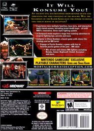 Box back cover for Mortal Kombat: Deception on the Nintendo GameCube.