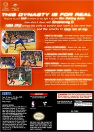 Box back cover for NBA 2K2 on the Nintendo GameCube.