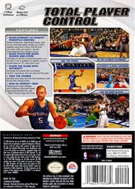Box back cover for NBA Live 2003 on the Nintendo GameCube.