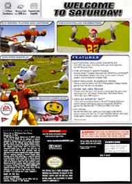 Box back cover for NCAA Football 2004 on the Nintendo GameCube.