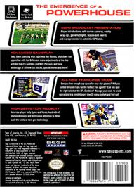 Box back cover for NFL 2K3 on the Nintendo GameCube.